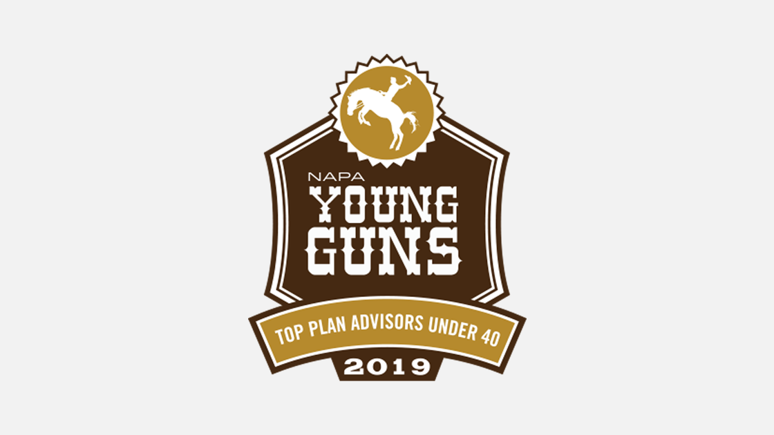 Photo of NAPA Young Guns Award Logo to indicate Ryan Campagna's placement on the list