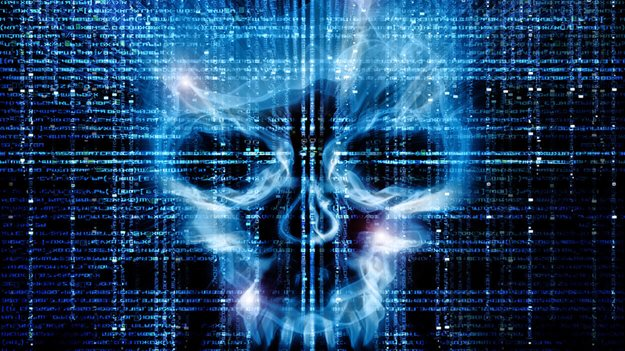 Picture of skull on data background to illustrate importance of educating employees on cyber security in a HR trends blog