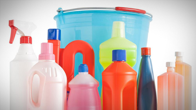 Picture of cleaning products to show the importance of cleaning out your employee handbook in a HR trends blog