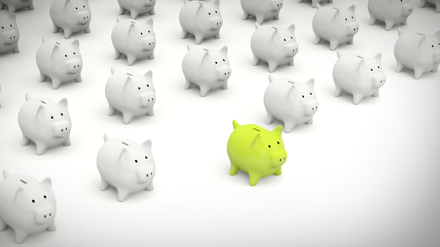 Picture of rows of piggy banks to ask: Are HSAs going mainstream? In HR trends blog