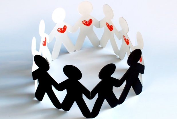 Paper people standing in a circle holding hands to show how HRA administration can help you and your employees ease their financial burdens