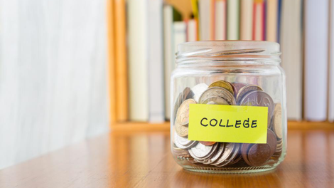 A savings jar to show the importance of college planning to protect your financial resources