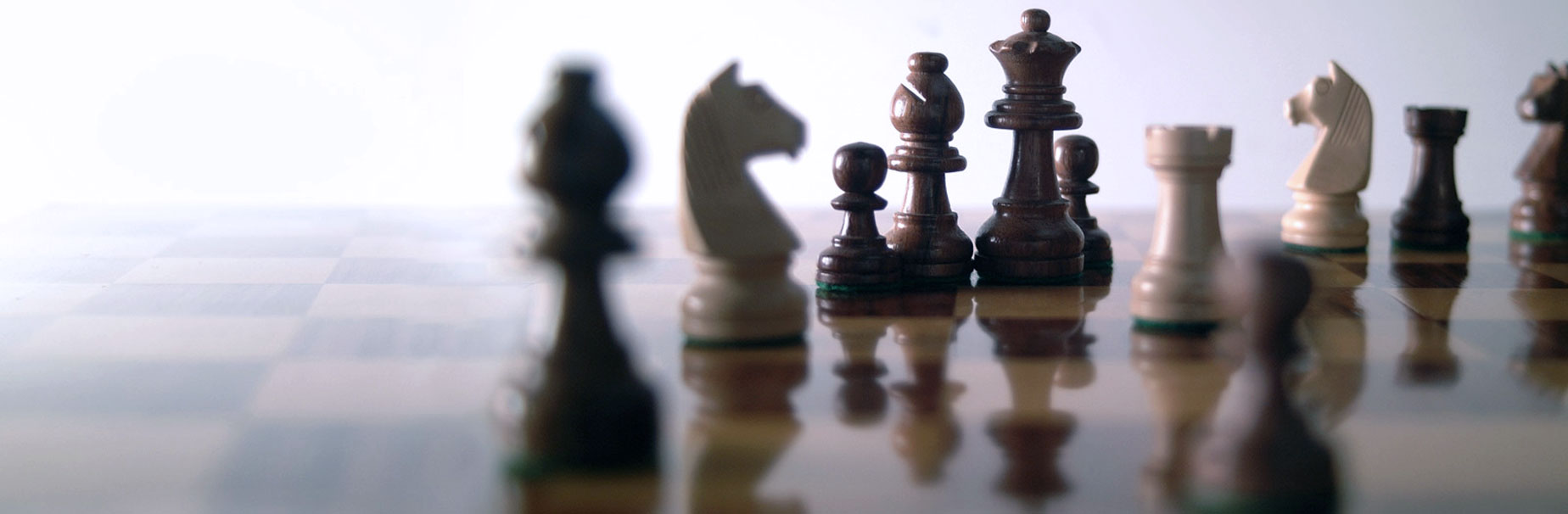 Chess piece showing investment management strategies