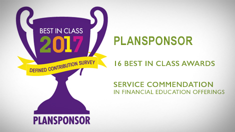 Sentinel Benefits receives 16 'Best in Class' awards, and 1 service commendation in Financial Education Offerings in PLANSPONSOR's 2017 DC survey!